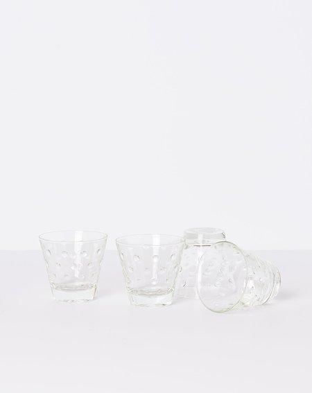 Vintage Set of Four Nubby Cocktail Glasses