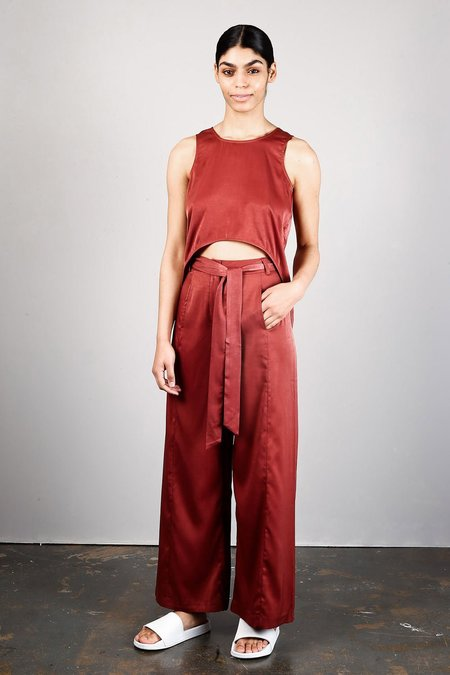 Native Youth Flora Crop Top - Rust