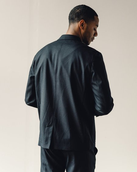 Norse Projects Boris Technical Wool Jacket - Navy