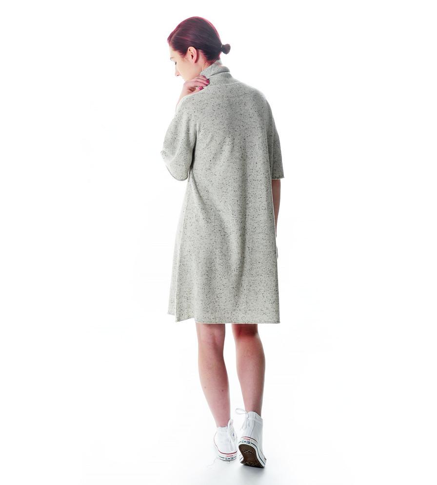 Ryan roche cashmere knit t shirt sweater dress garmentory for Dress shirt with sweater