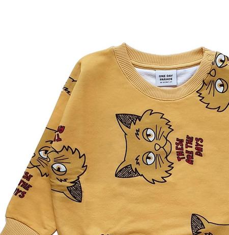 Kids One Day Parade Cat Sweater - Yellow
