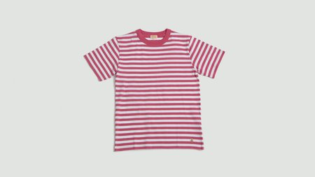 Armor Lux MC Heritage T-Shirt - New Pink/Blanc