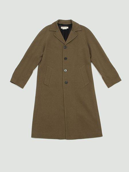 Marni Diagonal Wool Cotton Coat