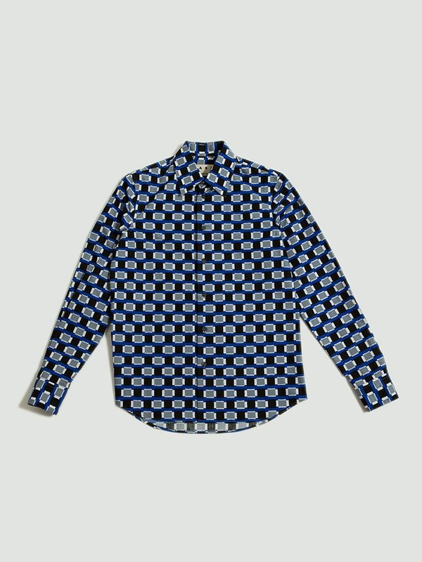 Marni Printed Shirt - Blue/Black