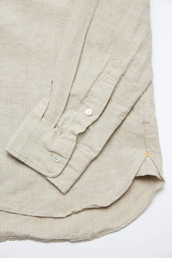 Beams Plus 40/1 Linen Button Down - Beige