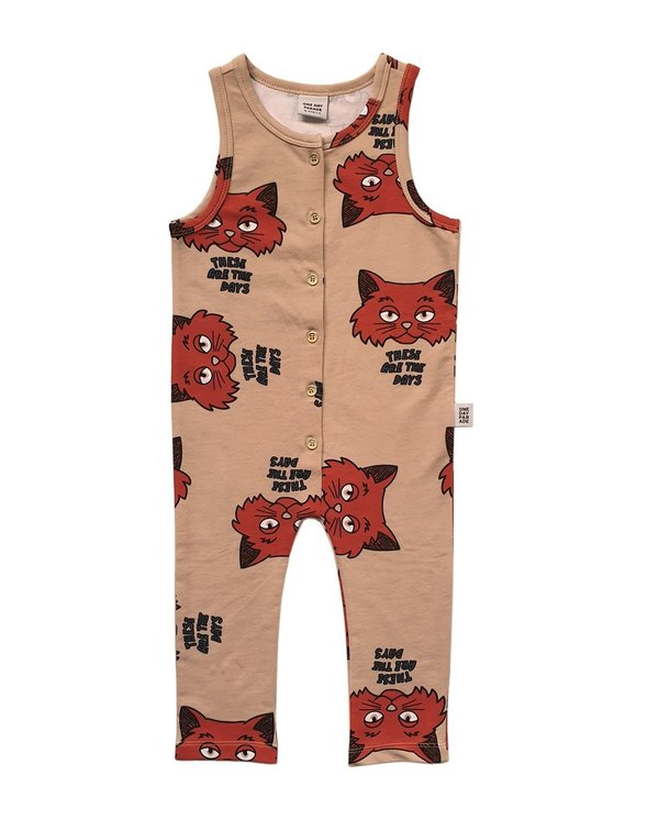 kids One Day Parade Cat Playsuit - brown