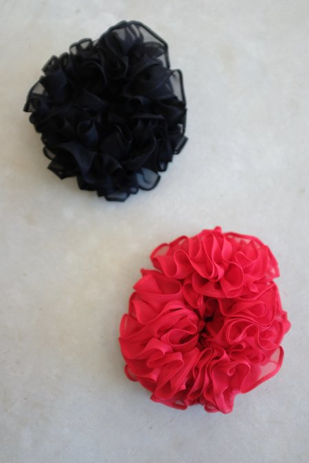 Maryam Nassir Zadeh MNZ Silk Carnation Scrunchie