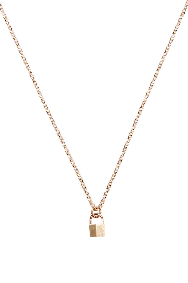 cc silver oversized gold padlock chanel necklace