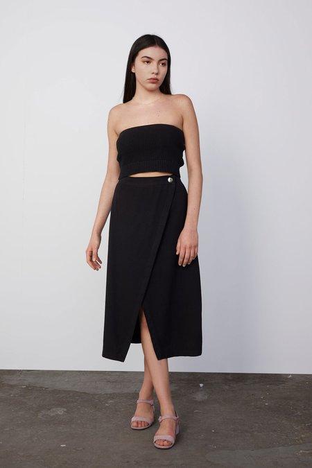 Decade Valerie Split Skirt - Black