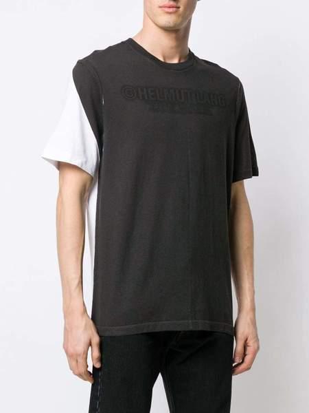 HELMUT LANG Logo Contrast T-shirt - Black/White