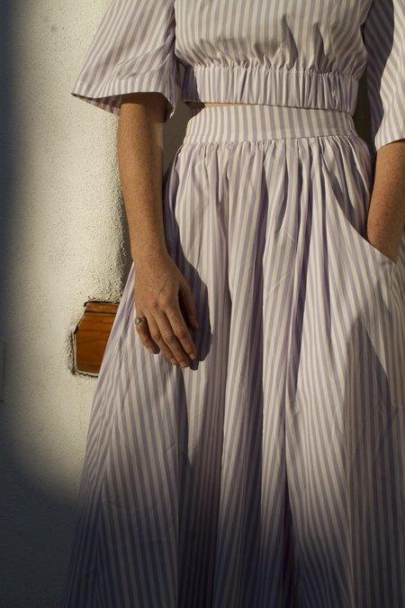 Mr. Larkin Allison Skirt - Lavender Stripe