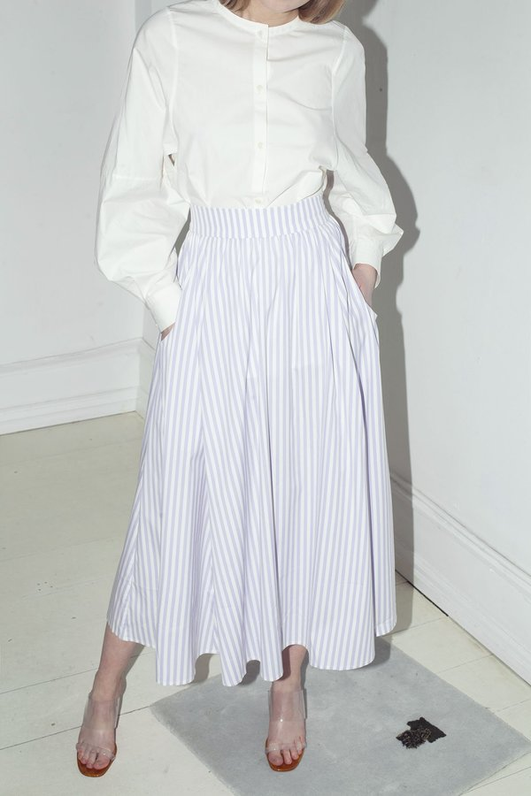 Mr. Larkin Allison Skirt - Lavender Stripe