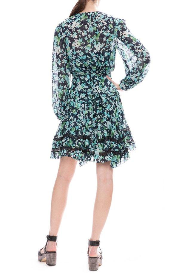 74518a3b07f6 Zimmermann Moncure Wrap Mini Dress - Meadow Floral | Garmentory