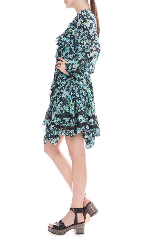 40daf6c5aed8 Zimmermann Moncure Wrap Mini Dress - Meadow Floral. $1,032.00. Zimmermann