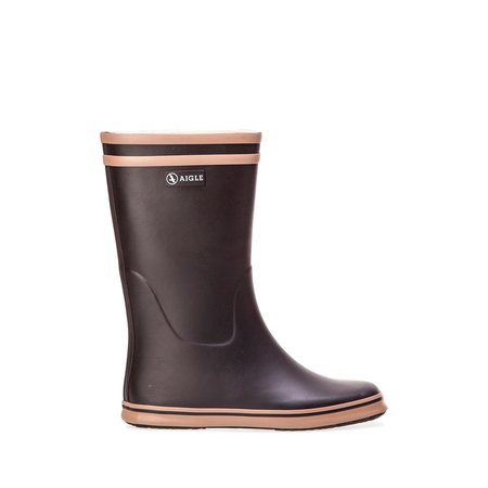 Aigle Malouine Rubber Boot - Black/Camel
