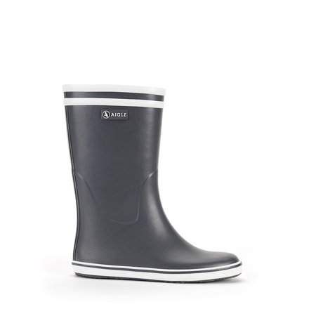 Aigle Malouine Rubber Boot - Charcoal