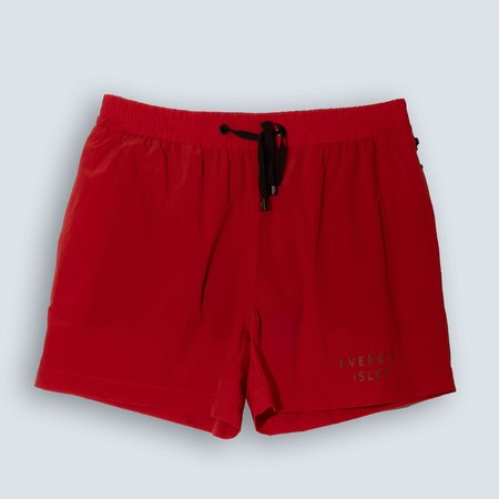 Everest Isles Swimmer 4 Way Stretch Shorts - RED
