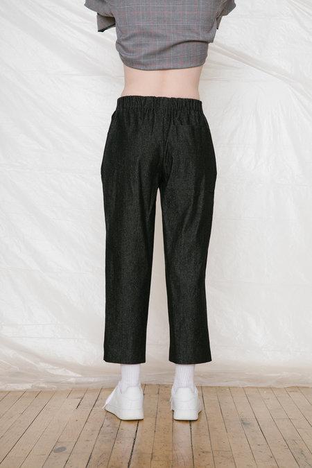 Unisex FAAN SLACK PANTS  - black denim
