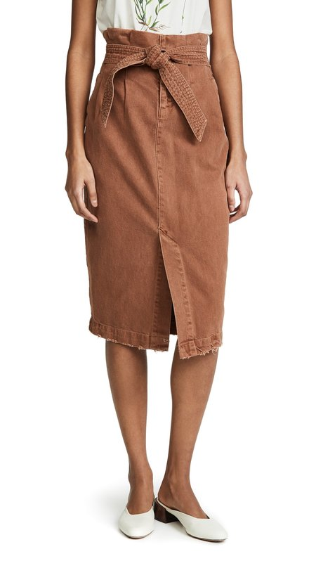 Free People Savannah Skirt - Muted Clay