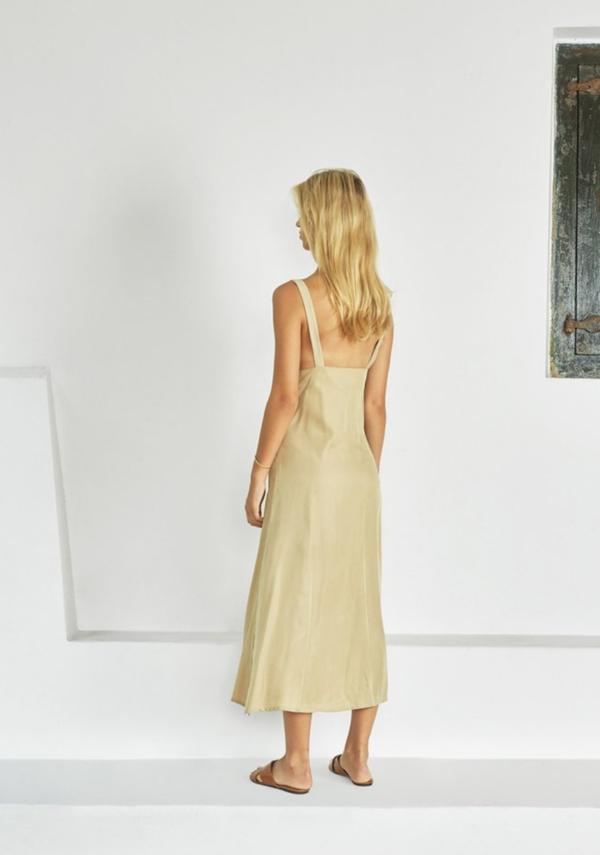 Sancia Lieke Knot Dress - Light Moss