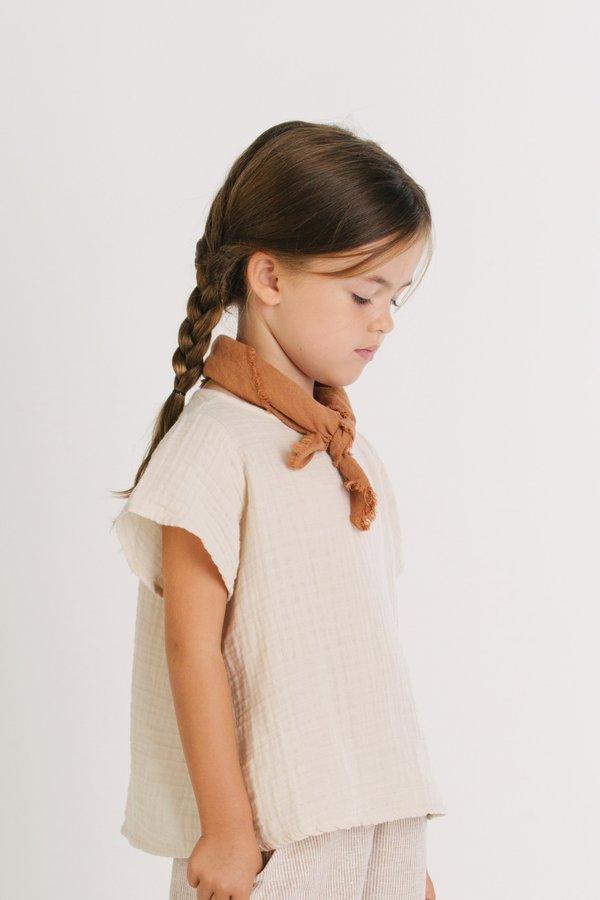 KIDS Go Gently Nation Flutter Sleeve T-Shirt - Oatmeal