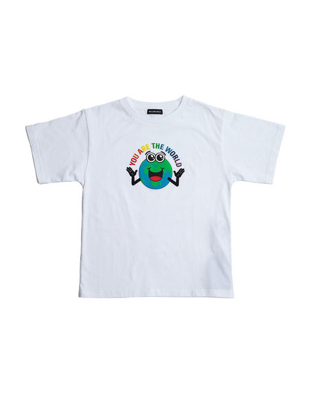 Kids Balenciaga Kids Printed Cotton T-Shirt - White