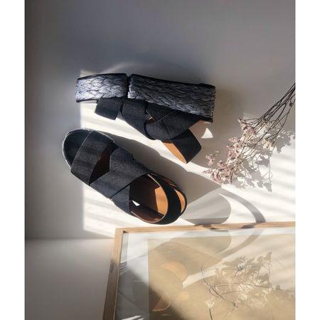 Robert Clergerie Ancre platform espadrilles - Black/Silver