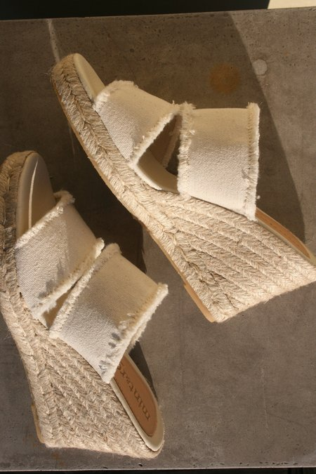 MINT & ROSE Emma Canvas Espadrille - White