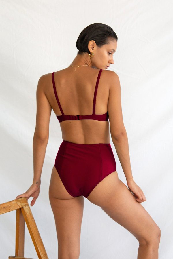 Galamaar High Bottom - Deep Garnet