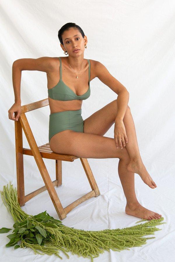 Galamaar Simone Retro Top - Sage
