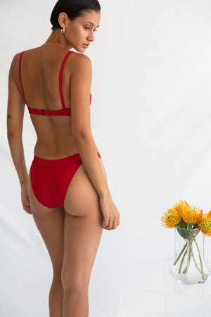 Galamaar Simone Retro Top - Rouge