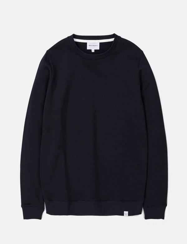 Norse Projects Vagn Classic Sweatshirt - Dark Navy Blue