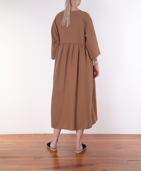 Revisited Edith Dress - CLAY