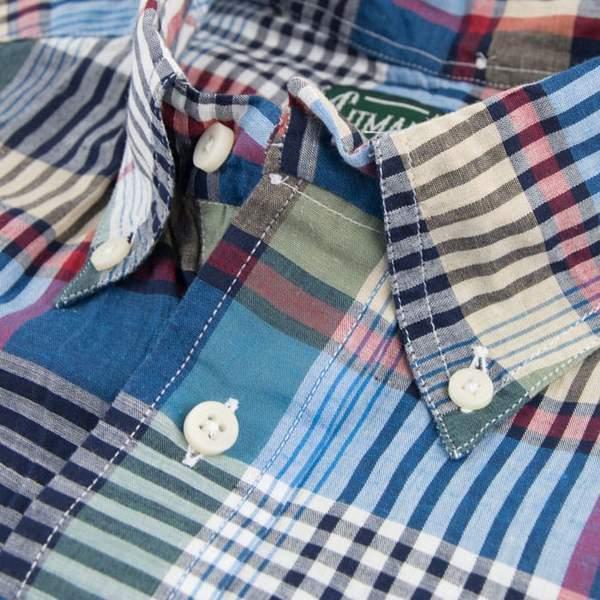 Gitman Bros. Button Up Shirt - Big Navy Plaid