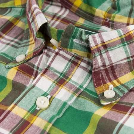 Gitman Bros. Vintage Madras Button Up Shirt - Green/Brick