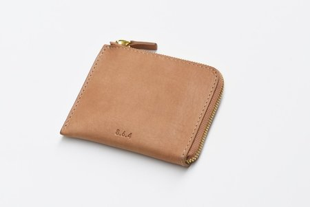 8.6.4 Leather Zip Wallet - tan