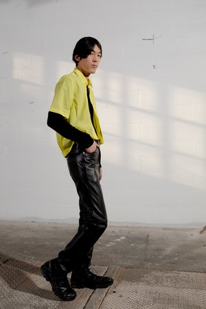 CMMN SWDN Damien Tech Nylon Boxy Elastic Shirt
