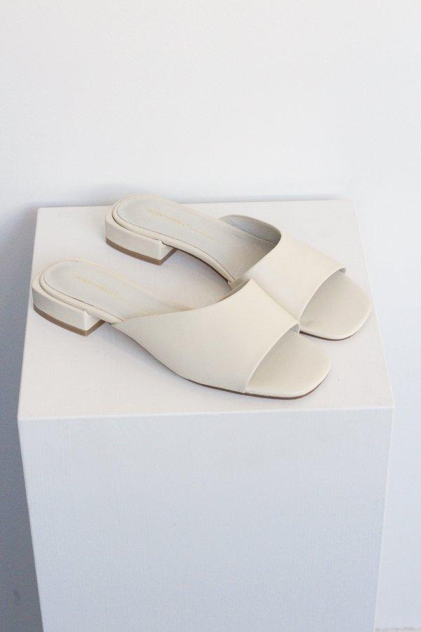 """INTENTIONALLY __________."" Jessi Block Heel Sandal - Bone"