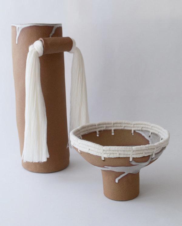 Karen Gayle Tinney Decorative Bowl #608 - Natural