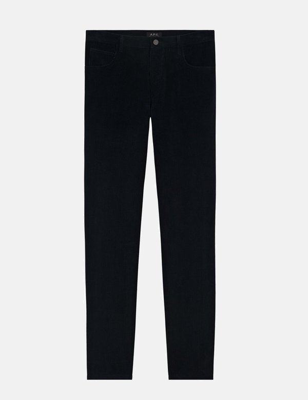 A.P.C. Petit Standard Slim Straight Cord Pants - Black