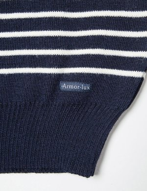 Armor Lux Dumet Striped Knit Jumper - Navy Blue
