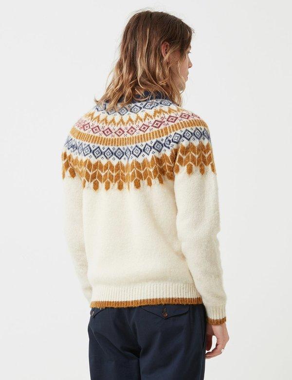 Bellerose Aokas Combo Knit Sweatshirt - Ecru