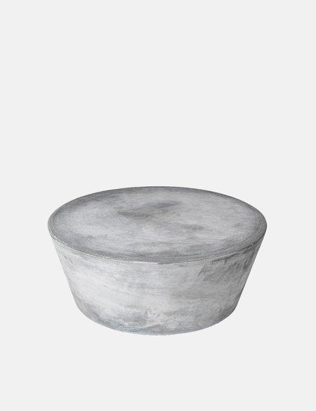 Broste Copenhagen Pouf 'Fiber' Fiberclay - Charcoal Grey