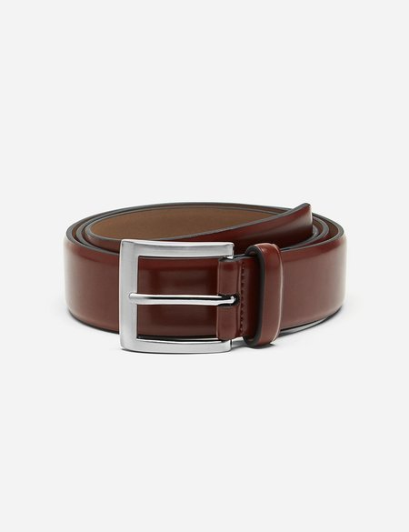 Dents Plain Leather Belt - Tan Leather