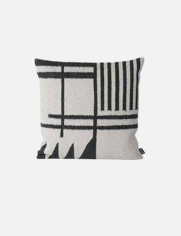Ferm Living Kelim Cushion - Black Lines