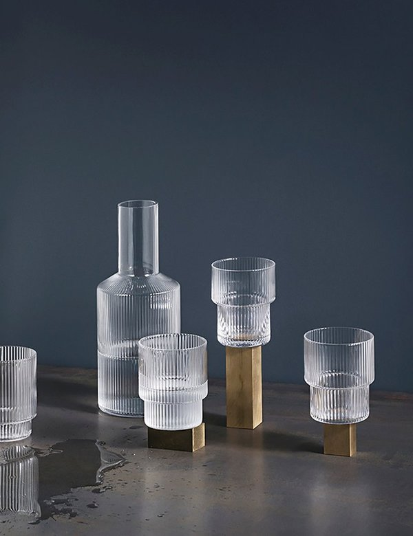 Ferm Living Ripple Glass Carafe - Clear