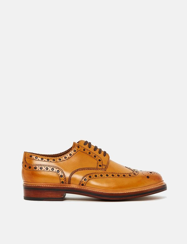Grenson Leather Archie Shoes - Tan