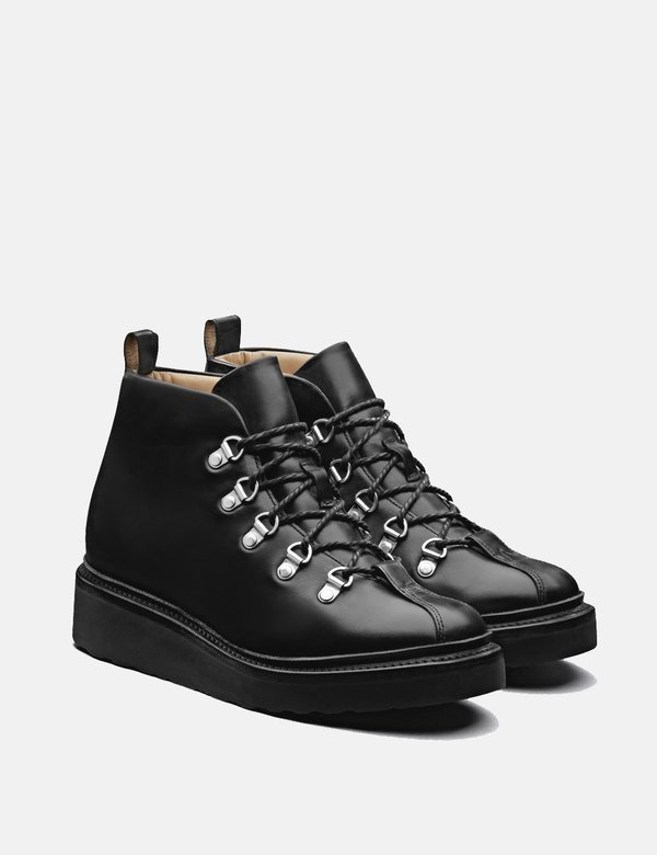 Grenson Leather Bridget Ski Boot - Black