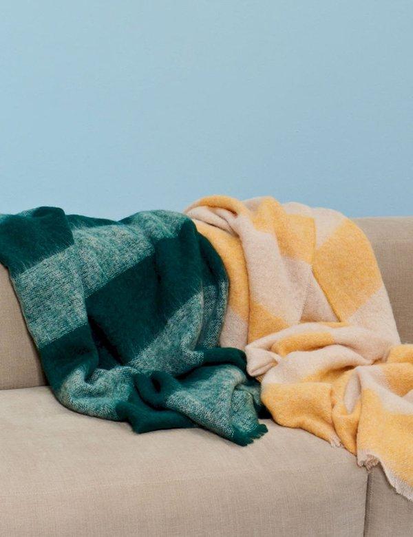 Hay Mohair Blanket - Green