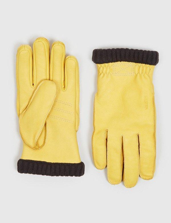 Hestra Primaloft Deerskin Rib Gloves - Natural Yellow